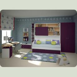 Повний комплект дитячої спальні СОНЯЧНЕ МІСТО-2