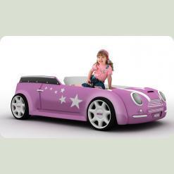 """Машина ліжко """"Міні-Купер"""" , рожева"""