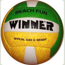 М'яч волейбольний WINNER Beach Fun - яскравий варіант для гри на пляжі