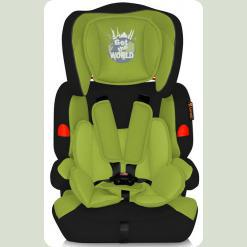 Автокрісло Bertoni Kiddy Black & Green The World