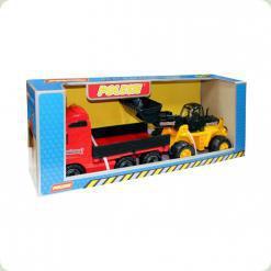 Автомобіль бортовий + трактор-навантажувач (у коробці)