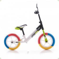 """Беговел Azimut Balance Bike EVA 12 """"Графіт-салатовий"""