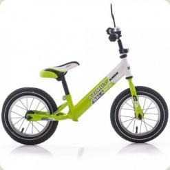 "Беговелы Azimut Balance Bike Air 12 ""Графіт-салатовий"