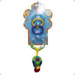 Брязкальце-підвіска з кільцем і прорезивателей Biba Toys Повітряна куля (108PP)