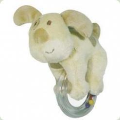 Брязкальце з кільцем Biba Toys Собачка (618QB dog)