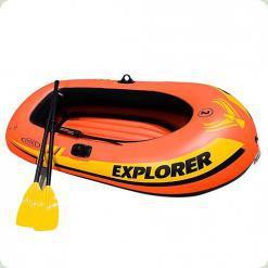 Човен Intex 58332 з насосом і веслами