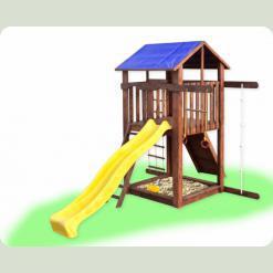 Дитячий будиночок з гіркою та скелелазкой Babygrai -1