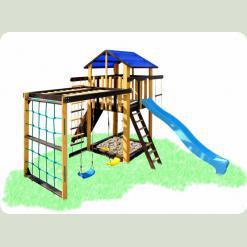 Дитячий ігровий комплекс з рукоходом і гойдалками Babygrai -3 Бджілка