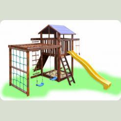 Дитячий ігровий комплекс з рукоходом і гойдалками Babygrai -3