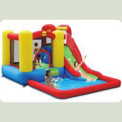 Надувний батут Happy Hop Блакитна Лагуна з басейном