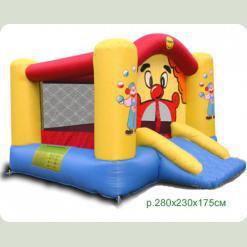 Надувний батут Happy Hop Веселий Клоун з гіркою