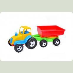 Дитяча машинка Kinderway Трактор з причепом (07-709) Жовтий