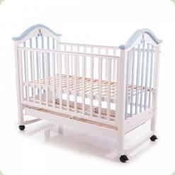 Дитяче ліжко Babycare BC - 440M Ламель Біло-блакитний
