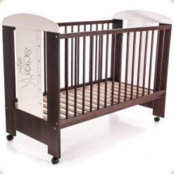 Дитяче ліжко Klups Safari Зайчик Ecru orzech