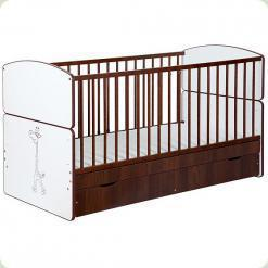 Дитяче ліжко-трансформер Klups Bartek II Zyrafкa з ящиком