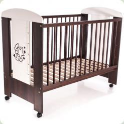 Дитяче ліжко з ящиком Klups Mis Горіх