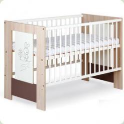 Дитяче ліжко з ящиком Klups Зайчик Капуччино