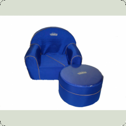 Дитяче м'яке крісло+пуф Tako (синій)