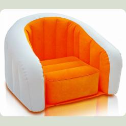 Дитяче велюровое крісло Intex 68597 Помаранчевий