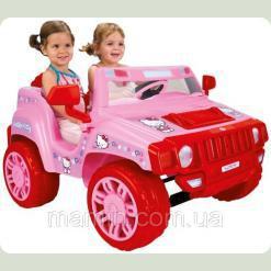 Дитячий електромобіль Джип Injusa «Helloy Kitty» 7534, двомісний