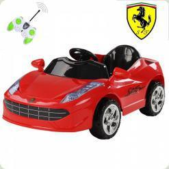 Дитячий електромобіль Ferrari, червоний