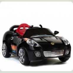 """Дитячий електромобіль Ferrari KL 106 R - 12V, 2 мотора """"Чорний"""""""