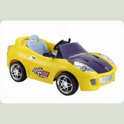 Дитячий електромобіль Ferrari KL 106 R - 12V, 2 мотора ЖОВТИЙ