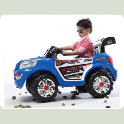 Дитячий електромобіль JJ 218 R-2 з пультом управління (Синій)