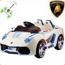 Дитячий електромобіль Lamborghini BT-BOC-0073 2 мотора, 12V, білий