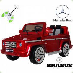 Дитячий електромобіль Mercedes AMG 55 гумові колеса, бордовий