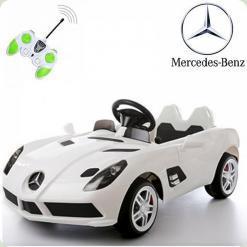 Дитячий електромобіль Mercedes-Benz SLR McLaren, білий