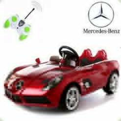 Дитячий електромобіль Mercedes-Benz SLR McLaren, бордовий