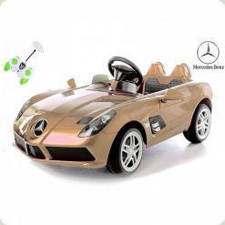 Дитячий електромобіль Mercedes-Benz SLR McLaren, золотий