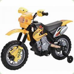 Дитячий Електромобіль Мотоцикл SPORT, гірський, жовтий