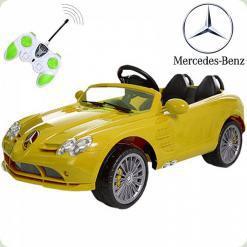 Дитячий електромобіль SLR-722SR-6 Mercedes з пультом дистанційного керування (Жовтий)