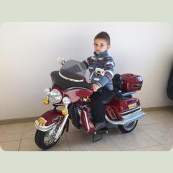 Дитячий електромотоцикл (бордовий)