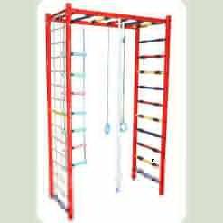 Дитячий спортивний комплекс П-шка металевий (з навісним обладнанням), ширина сходів 65 см