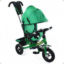 Дитячий триколісний велосипед Combi Trike BT-CT-0004 GREEN. Надувні колеса