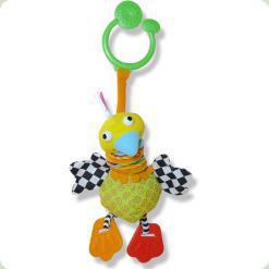 Дрожащая іграшка-підвіска Biba Toys Щаслива пташка (075GD)