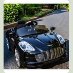 Електромобіль Bambi Aston Martin Чорний (M 2774 EBRS-2)