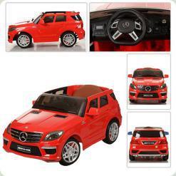 Електромобіль Bambi Mercedes-Benz Червоний (шкіра) (ML 63 ELR-3)