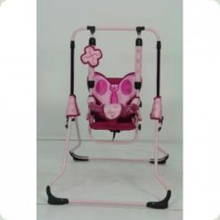 Гойдалки Tako Swing з барьеркой Рожева метелик