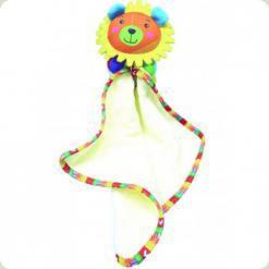 Іграшка-ковдрочку Biba Toys Щаслива левеня (909HA leo)