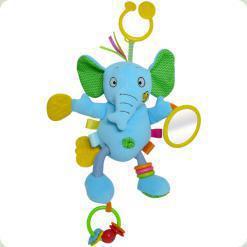 Іграшка-підвіска Biba Toys Активний Слоненя (702JF elephant)