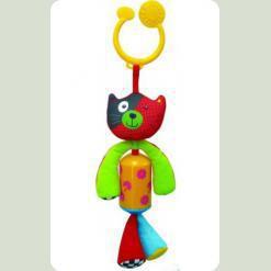 Іграшка-підвіска Biba Toys Щаслива кошеня з дзвіночком (904HA kitty)
