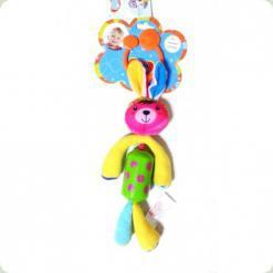 Іграшка-підвіска Biba Toys Щаслива зайченя з дзвіночком (904HA bunny)
