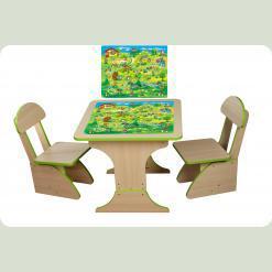 Ігровий столик зростаючий +2 стільчика, Гра