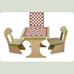 Ігровий столик зростаючий +2 стільчика, Шахи