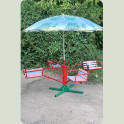 Дитяча карусель з парасолькою, 4-місцева