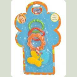 Кільцева брязкальце-підвіска з прорізувачем Biba Toys Бджілка (093PP)